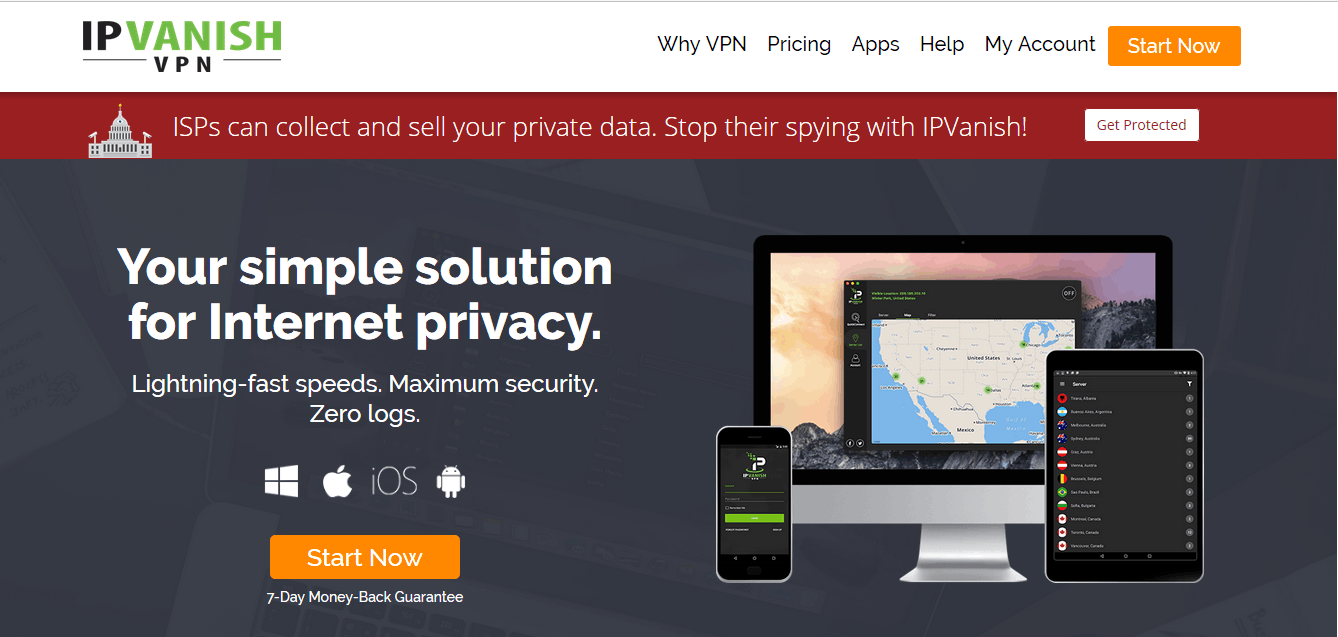 IPVanish VPN Review Website
