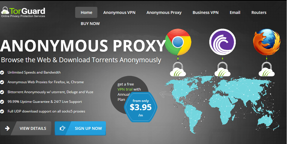 TorGuard anonymous proxy