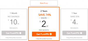 PureVPN new price