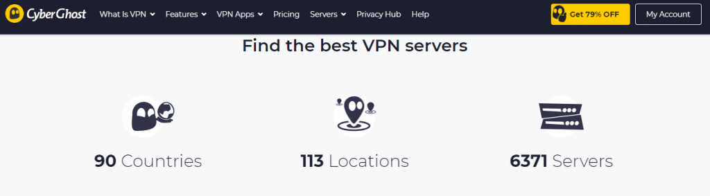 CyberGhost VPN Review Servers
